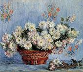 Chrysathemums 1878 By Claude Monet