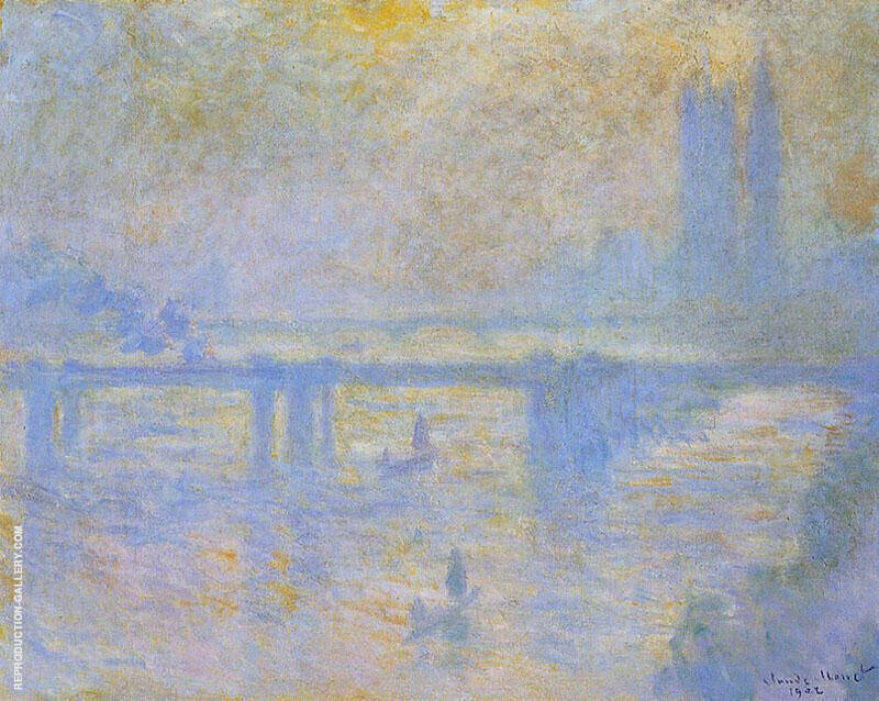 Charing Cross Bridge c1899 By Claude Monet