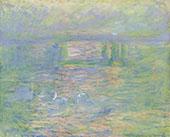 Charing Cross Bridge 1901 By Claude Monet