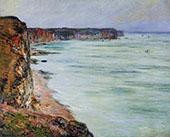 Calm Weather Fecamp 1881 By Claude Monet