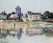 By the River at Vernon 1883 By Claude Monet