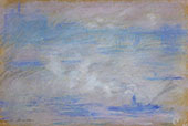 Boats on the Thames Fog Effect 1901 By Claude Monet