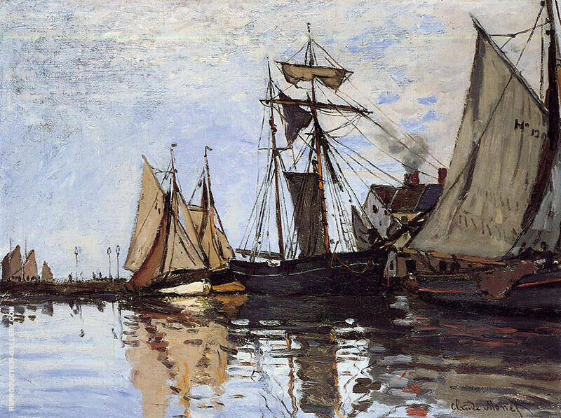 Boat in the Port of Honfleur 1866 By Claude Monet