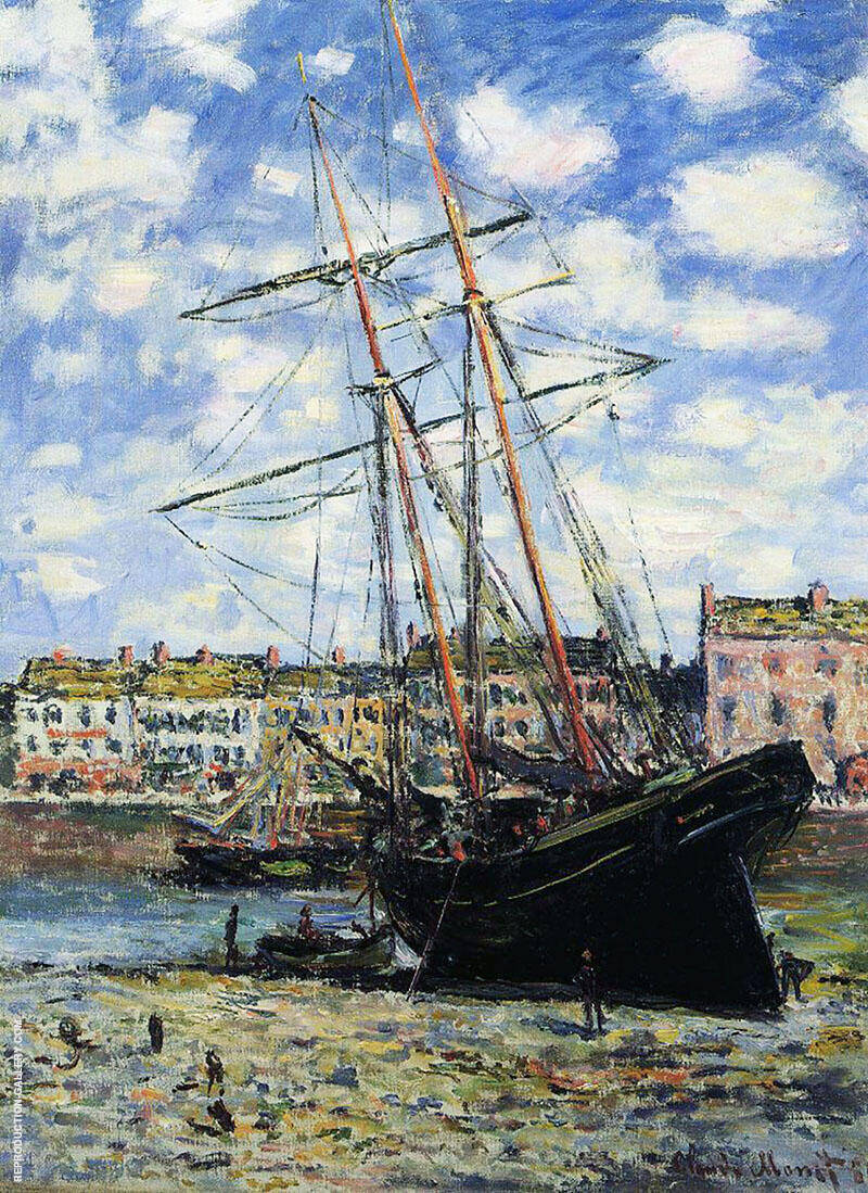 Boat at Low Tide at Fecamp 1881 By Claude Monet