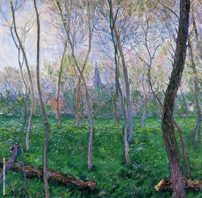 Bennecourt 1887 By Claude Monet