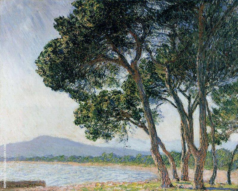 Beach in Juan le Pins 1888 By Claude Monet
