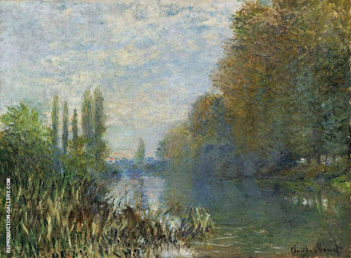 Banks of the Seine Autumn By Claude Monet