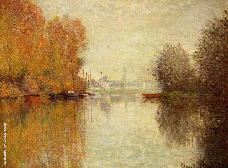 Autumn on the Seine at Argenteuil 1873 By Claude Monet