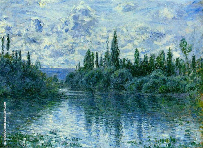 Arm of the Seine near Vetheuil 1878 By Claude Monet