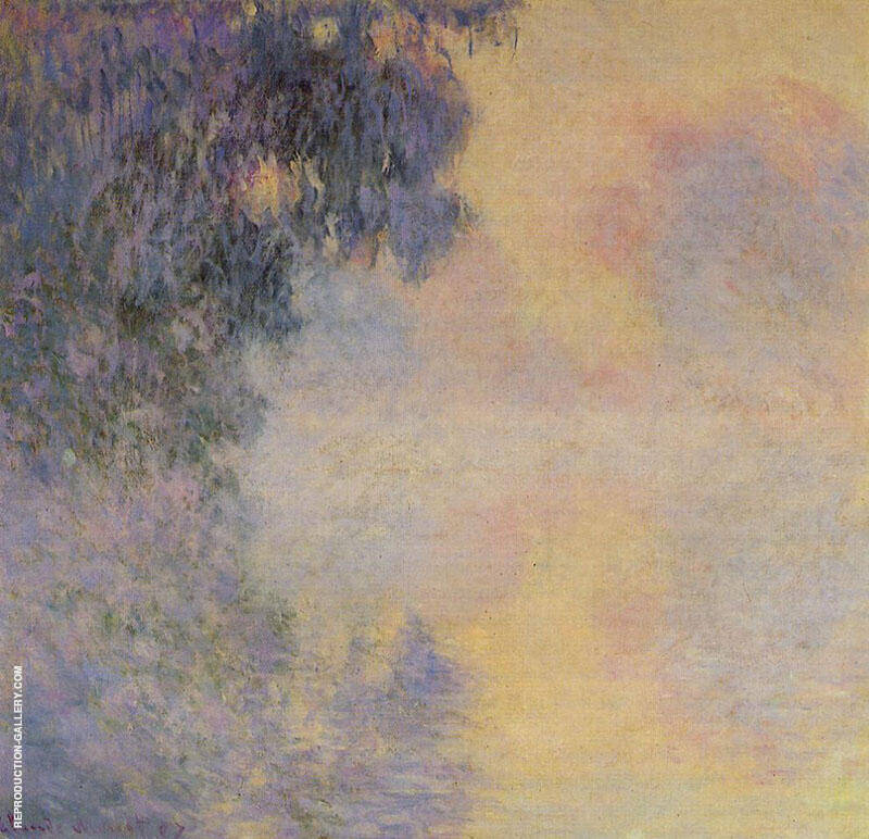 Arm of the Seine Near Giverrny in the Fog 1897 By Claude Monet