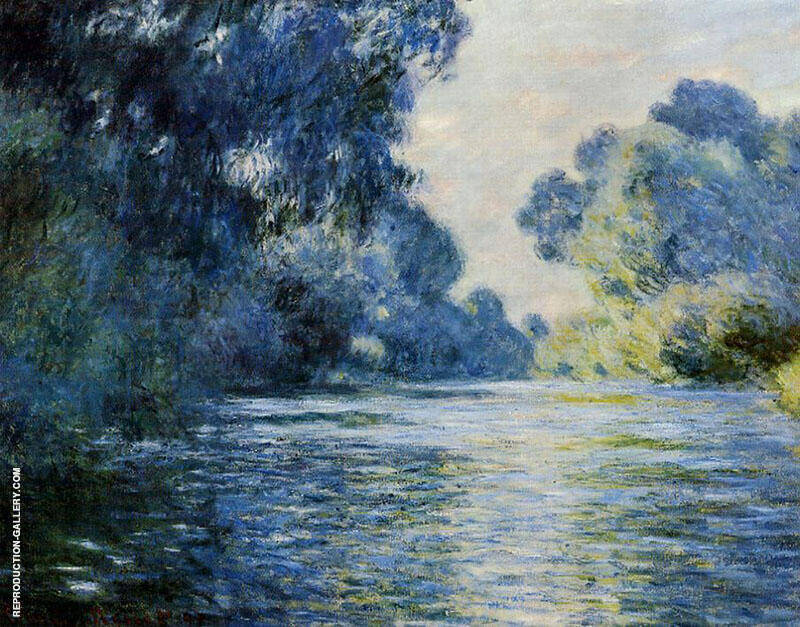 Arm of the Seine at Giverny 1897 By Claude Monet