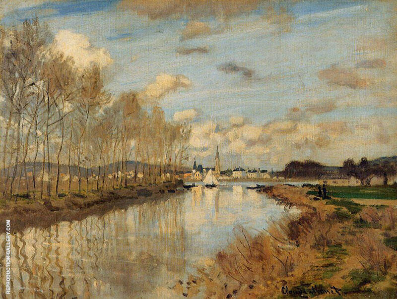 Argenteuil seen from the Small Arm of the Seine Autumn 1872 By Claude Monet