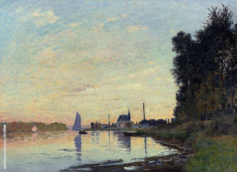 Argentuil Late Afternoon 1872 By Claude Monet