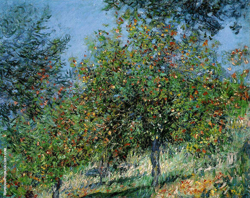 Apple Trees on the Chantemesle Hill 1778 By Claude Monet