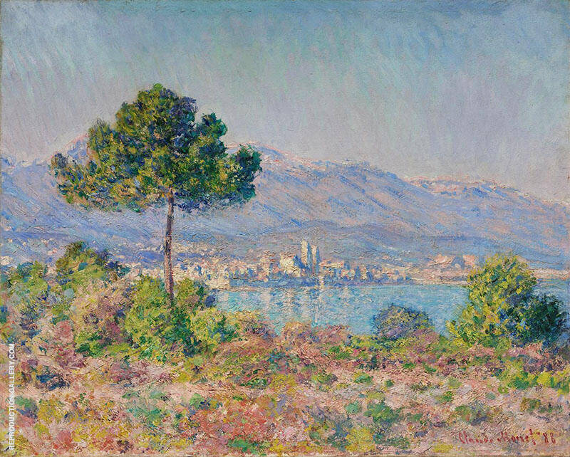 Antibes Seen from the Plateau Notre Dame 1888 By Claude Monet