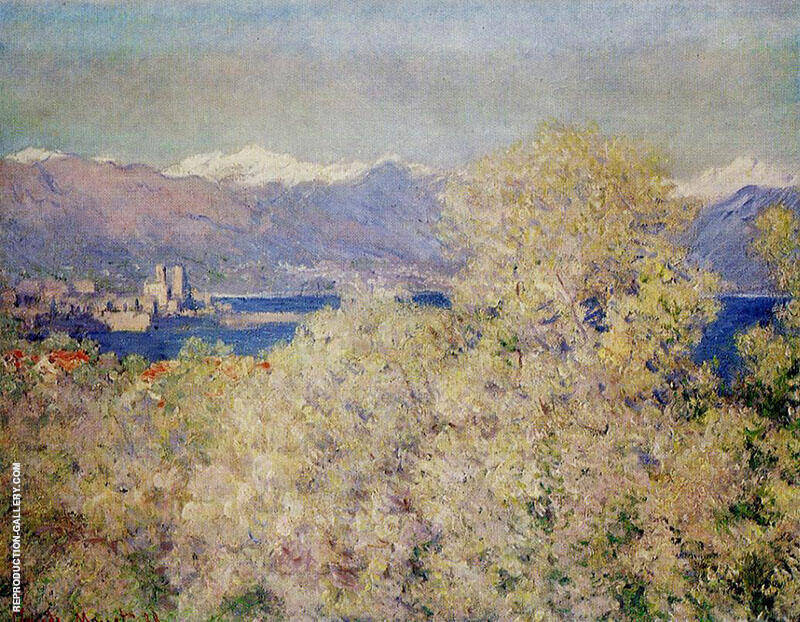 Antibes View of the Salis Gardens 1888 By Claude Monet