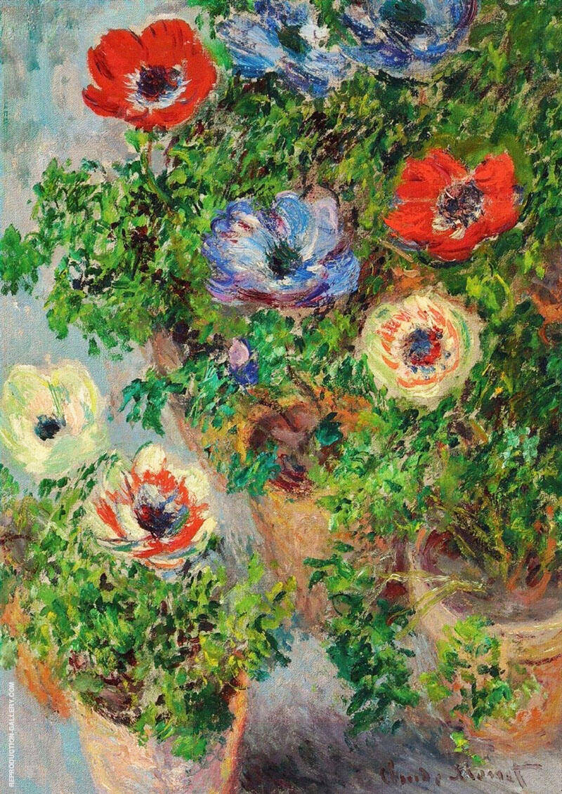 Anemones 1885 By Claude Monet