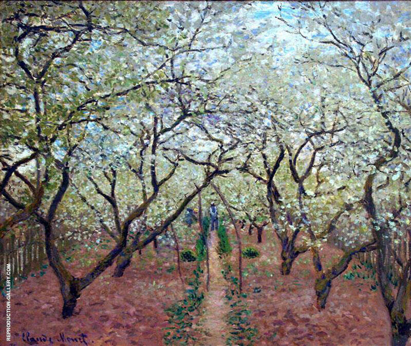 Orchard in Bloom 1879 By Claude Monet