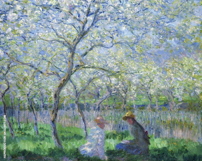 Springtime 1886 Painting By Claude Monet - Reproduction Gallery