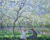 Springtime 1886 By Claude Monet