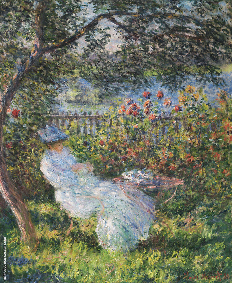Alice Hoschede in the Garden 1881 By Claude Monet