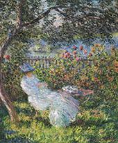 Alice Hoschede in the Garden 1881 By Claude Monet