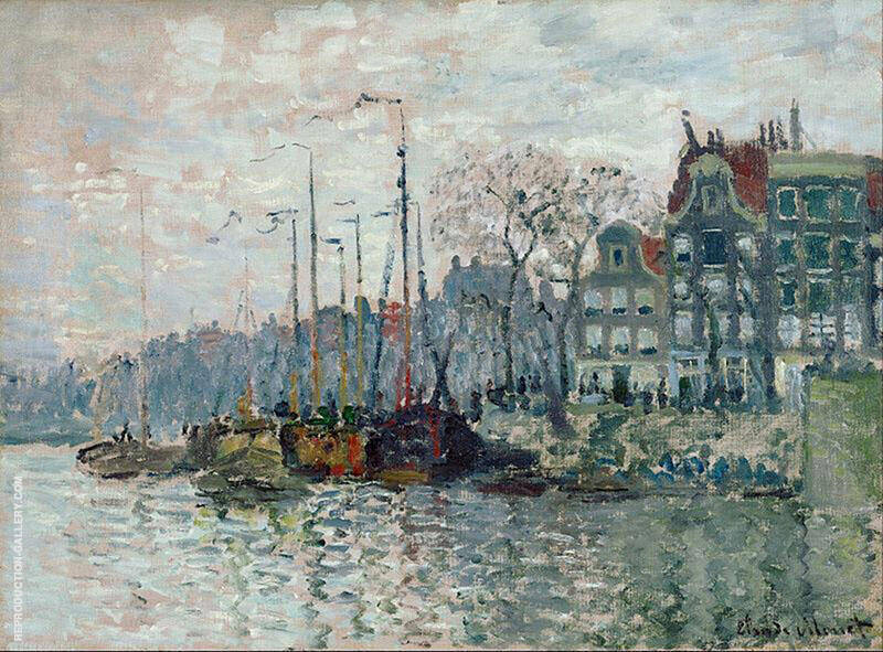 View of the Prins Hendrikkade and the Kromme Waal Amsterdam 1874 By Claude Monet