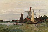 Windmill at Zaandam 1871 By Claude Monet