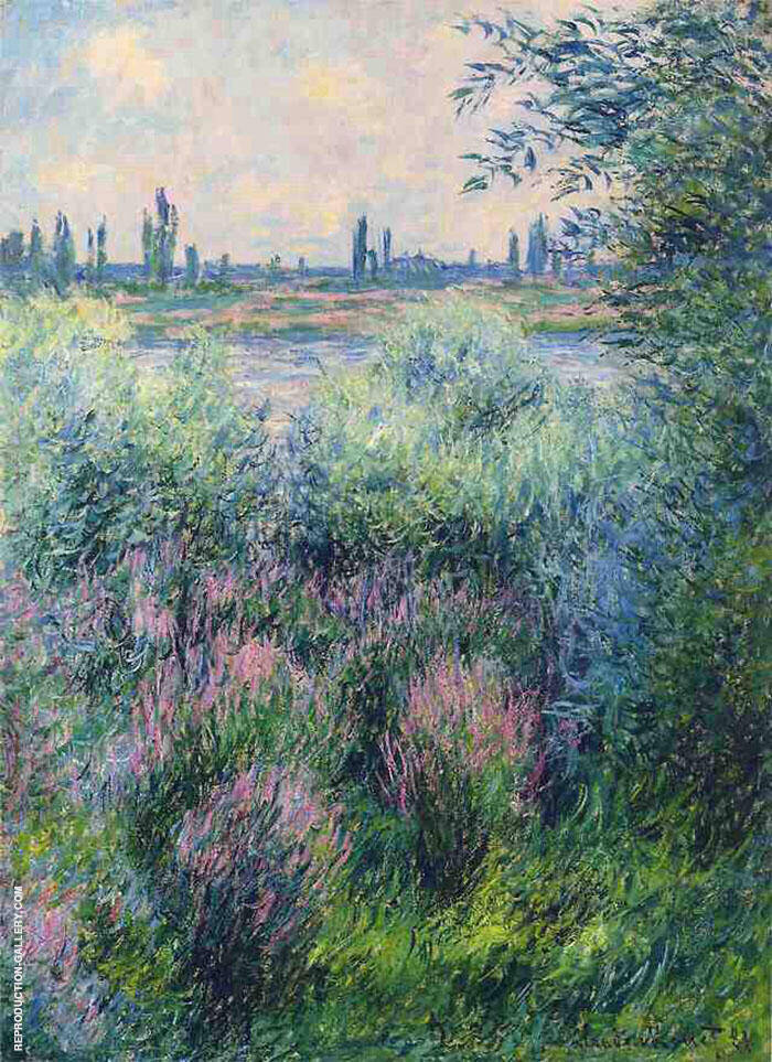 A Spot on the Banks of the Seine 1881 By Claude Monet