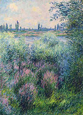 A Spot on the Banks of the Seine 1881 (Detail) By Claude Monet