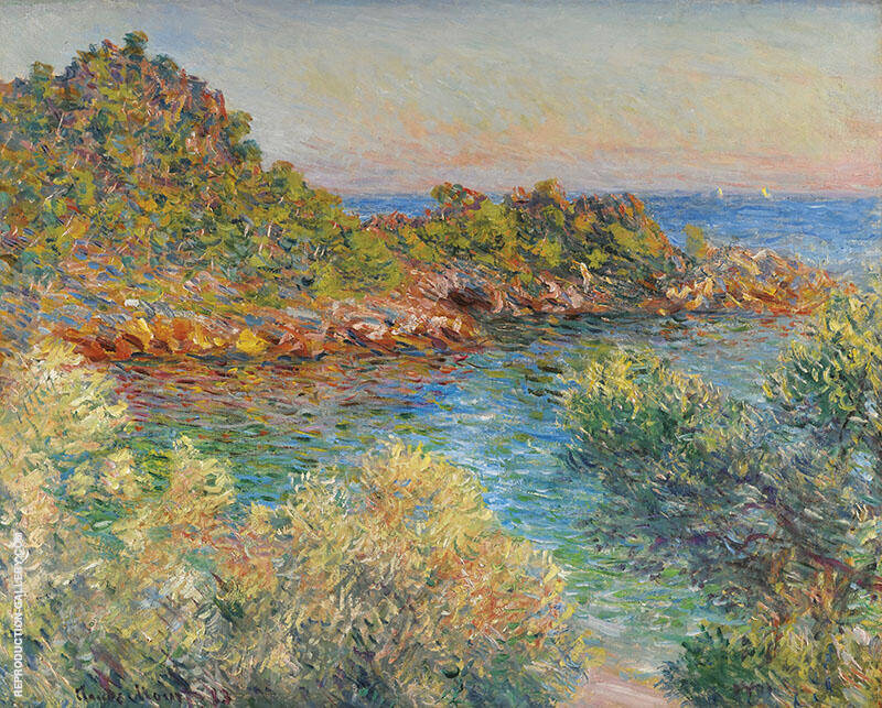 Pres Monte Carlo 1883 By Claude Monet