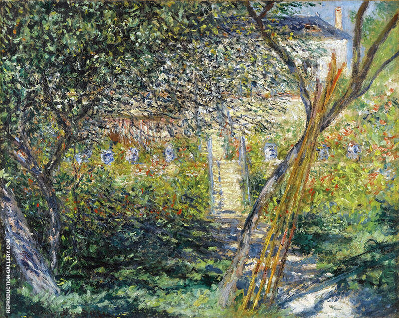 Monet's Garden at Vetheuil 1881 Painting By Claude Monet