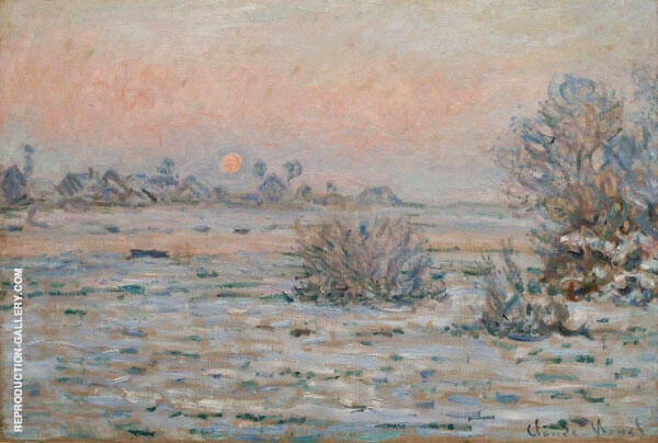 Winter Sun Lavacourt 1879 By Claude Monet