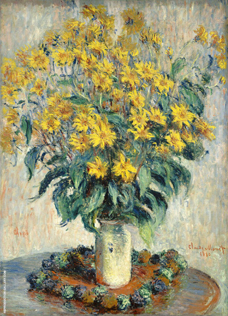 Jerusalem Artichoke Flowers 1880 By Claude Monet