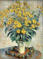 Jerusalem Artichoke Flowers 1880 By Claude Monet