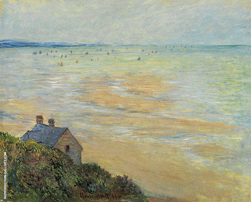 Hut in Trouville 1881 By Claude Monet