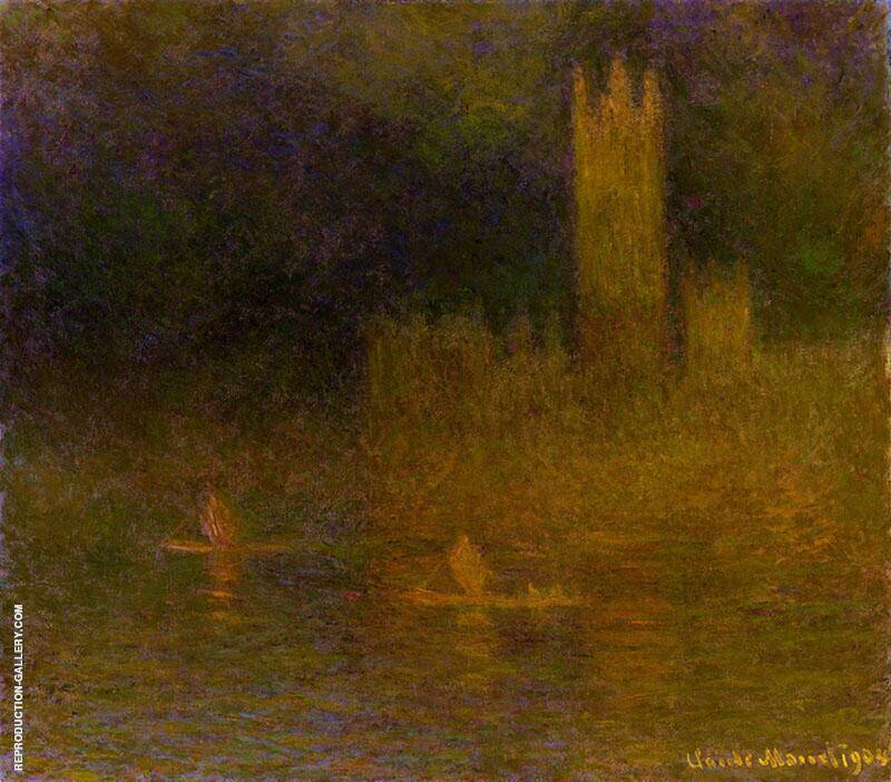 Houses of Parliament Fog Effect c1900 By Claude Monet