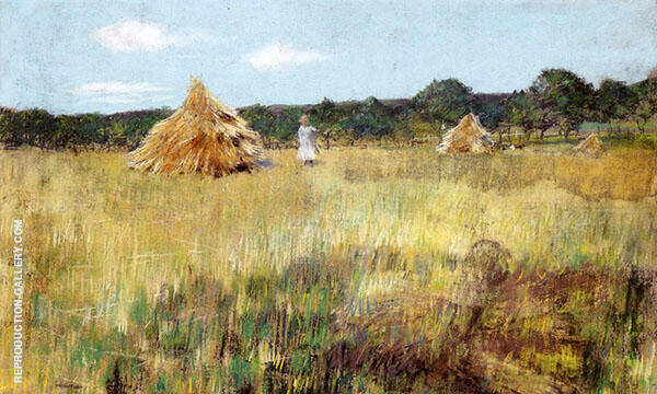 Grain Field Shinnecock Hills By William Merritt Chase