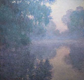 Morning Mists Giverny 1897 By Claude Monet