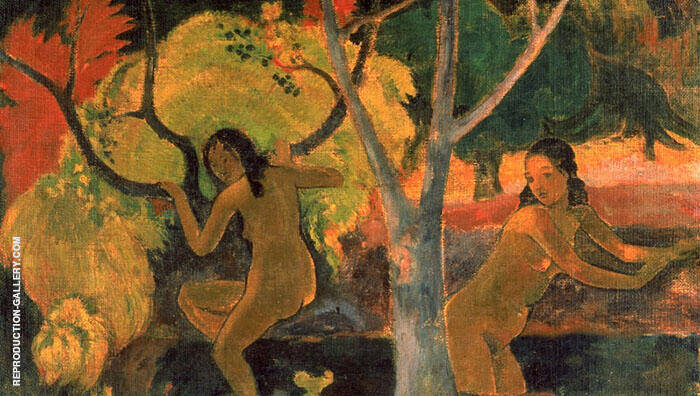 Bathers in Tahiti By Paul Gauguin
