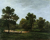 A Clearing c1873 By Paul Gauguin