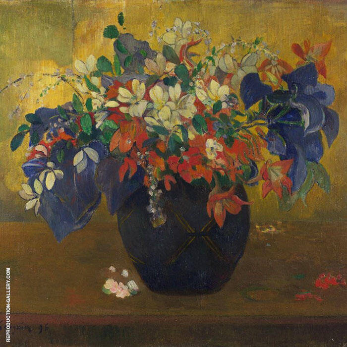 A Vase of Flowers 1896 By Paul Gauguin