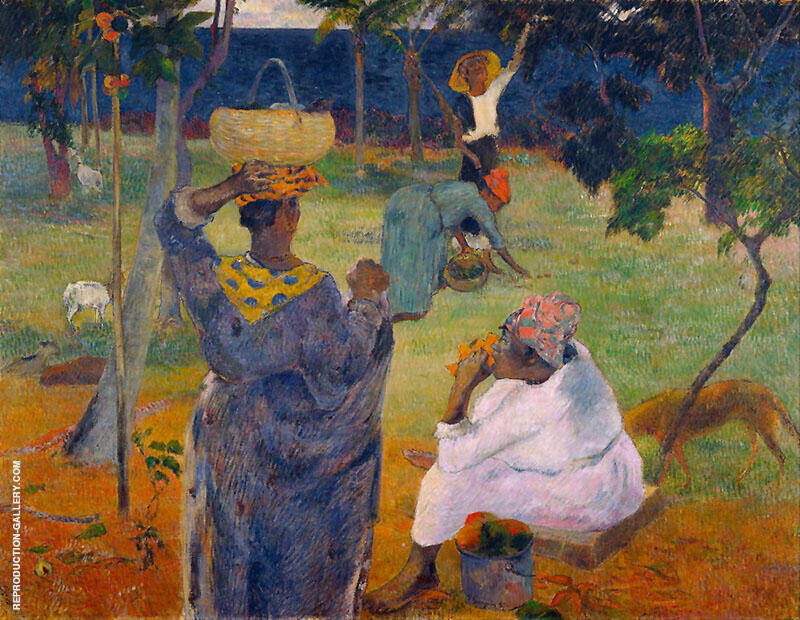 Among the Mangoes 1887 By Paul Gauguin