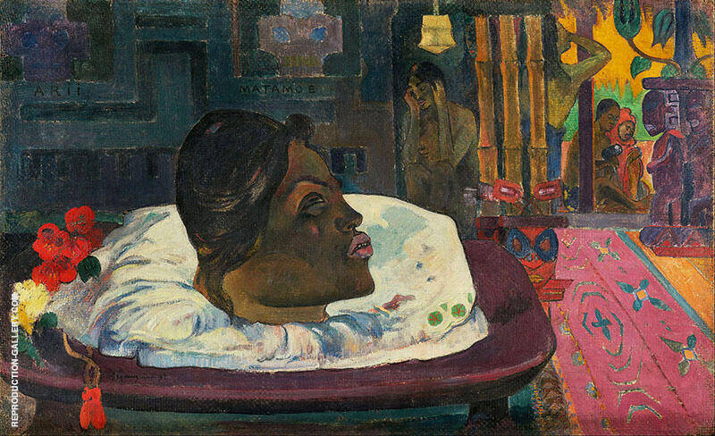 Arii Matamoe The Royal End 1882 By Paul Gauguin