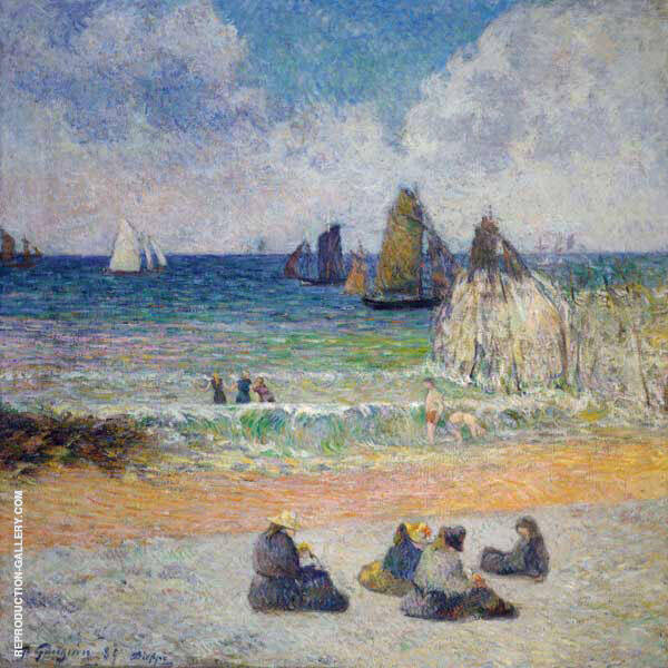 Bathing Dieppe 1885 By Paul Gauguin