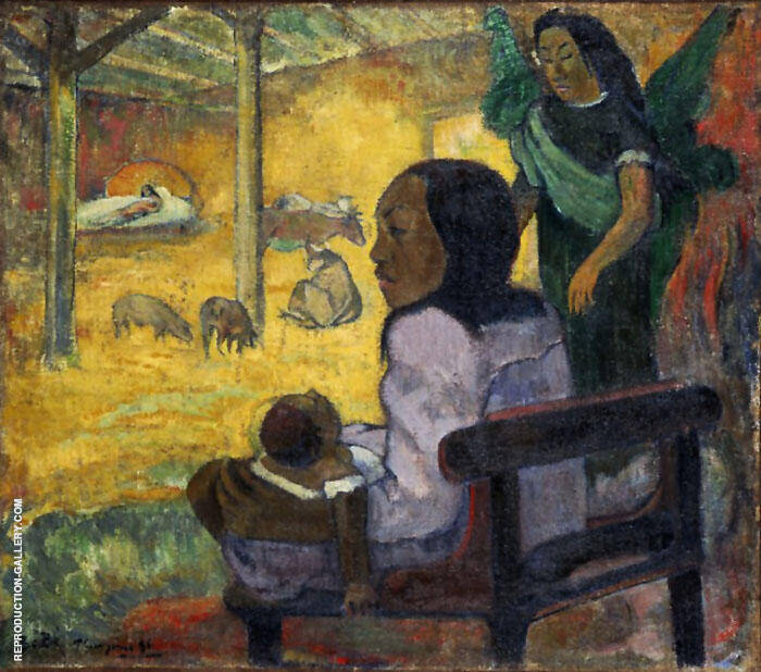 Be Be The Nativity 1896 By Paul Gauguin