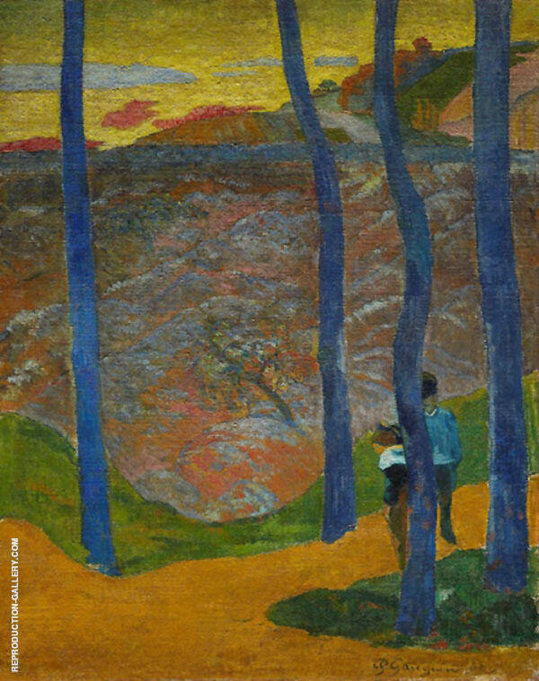 Blue Trees 1888 By Paul Gauguin