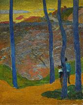 Blue Trees 1888 By Paul Gauguin