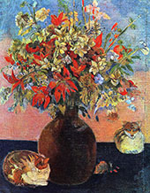 Flowers and Cats 1899 By Paul Gauguin