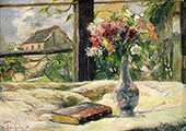 Vase of Flowers at the Window 1881 By Paul Gauguin